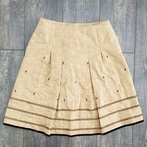 Yansi Fugel brown textured pleated skirt - size 4